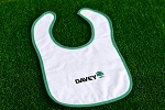 White / Kelly Green Infant Snap Bib