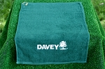 Hunter Green Golf Towel w/Grommet & Hook