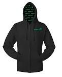 Black Comfort Blend Full Zip Hoodie with Davey Tree Custom Hood Lining