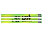 25 Green Mood Pencils w/Colored Erasers