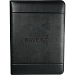 Black Windsor Zippered Padfolio