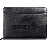 Black Renaissance Leather Zippered Padfolio - WSL