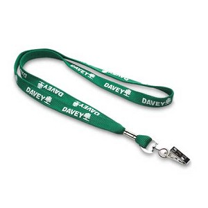 Green Lanyard with Swivel Clip