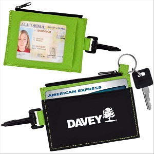 Lime Green/Black Travel Wallet